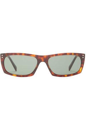 Celine Eyewear Rectangular Tortoiseshell-acetate Sunglasses - Mens - Tortoiseshell