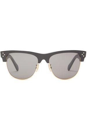 Céline D Frame Acetate And Metal Sunglasses - Mens