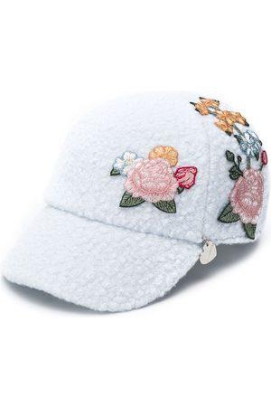 MONNALISA Faux-shearling floral cap