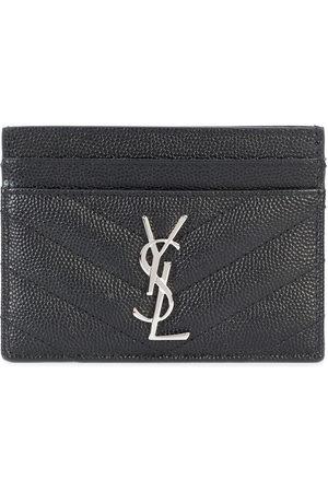 Saint Laurent Women Purses - Monogram grained-leather cardholder