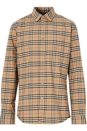 Burberry Small scale check shirt - Neutrals