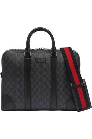 Gucci Men Laptop Bags - Slim Gg Supreme Logo Briefcase