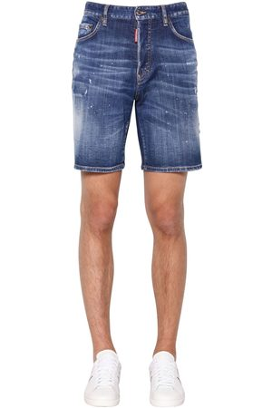 Dsquared2 36cm Boxer Fit Cotton Denim Shorts