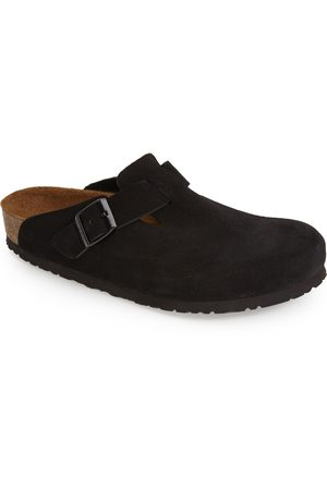Birkenstock Men's 'Boston Soft' Suede Clog