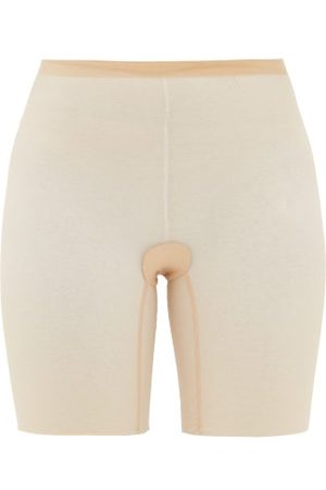 Wolford Tulle Shapewear Shorts - Womens - Nude