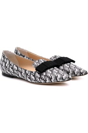 Jimmy choo Gala printed leather ballet flats