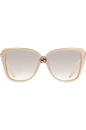 Gucci Oversized square frame sunglasses - Neutrals
