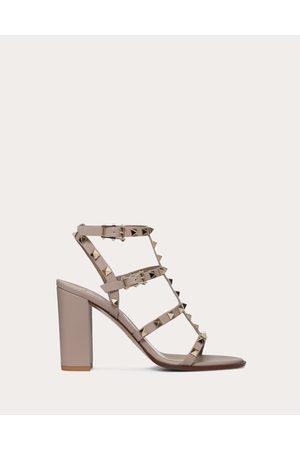 VALENTINO GARAVANI Rockstud Ankle Strap Sandal 90 Mm Women Poudre Calfskin 100% 38