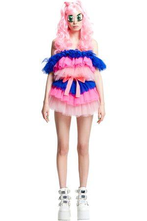 TEENIDOL Tulle Mini Dress W/belt & Wig