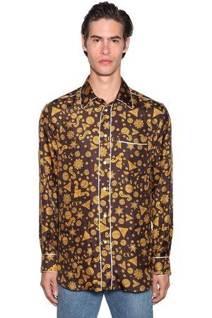 VERSACE Printed Shirt W/ Piping