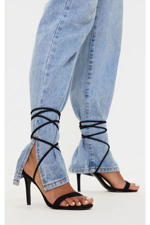 PRETTYLITTLETHING Barely There Ankle Tie Strappy Sandal