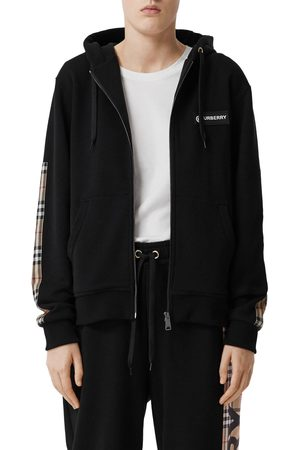 Burberry Women's Aubree Vintage Check Panel Hoodie