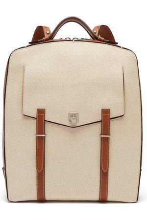 Métier London Rider Linen Canvas Backpack - Mens