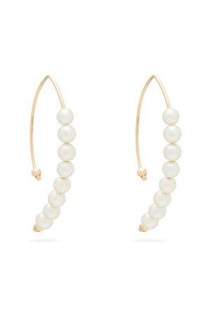 Mizuki Akoya Pearl & Gold Earrings - Womens - Pearl