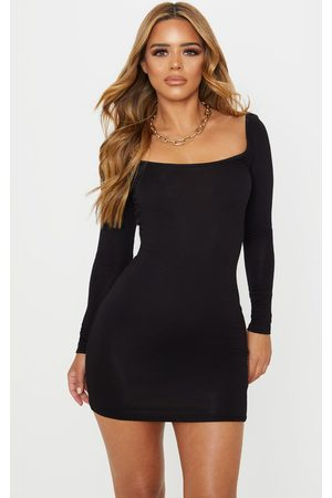 PRETTYLITTLETHING Petite Long Sleeve Jersey Mini Dress