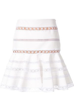 INGIE Women Mini Skirts - Flared lace mini skirt