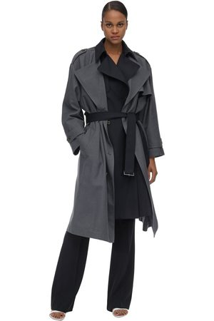 Rokh Women Coats - Long Layered Viscose Blend Coat