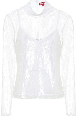 Staud Chaka sequined blouse
