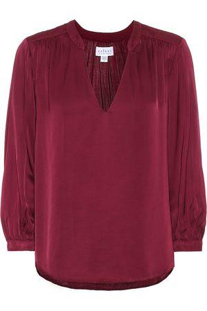 Velvet Lori satin blouse