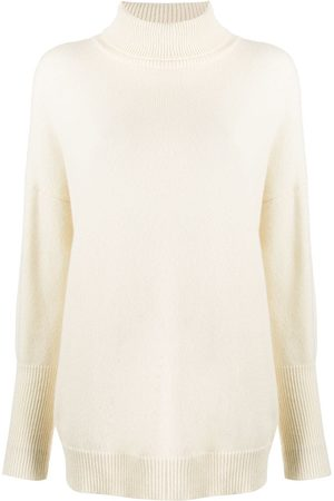 Chinti And Parker Women Turtlenecks - Roll neck cashmere sweater - Neutrals