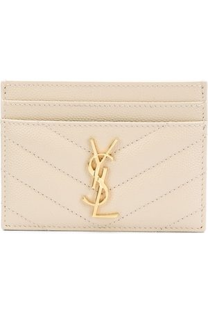 Saint Laurent Women Purses - Monogram cardholder - Neutrals