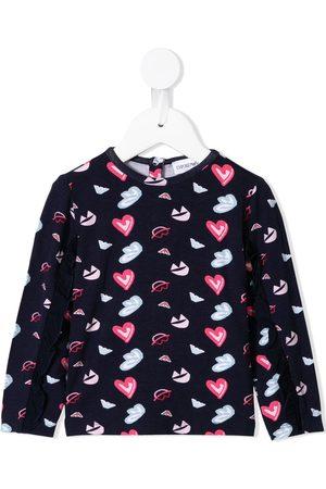 Emporio Armani Kids Heart print jersey set