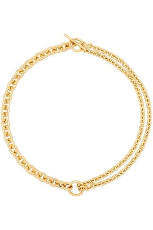 ALL BLUES 18kt double mix chain necklace