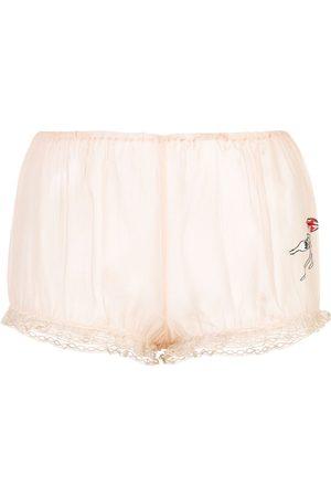 Kiki de Montparnasse X Caroline Vreeland pasta bloomer shorts - Neutrals