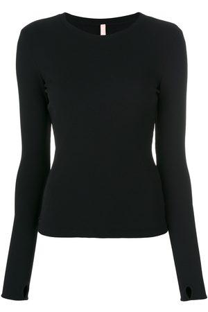 NO KA' OI Women Sweatshirts - Textured crew neck sweatshirt