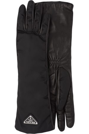 Prada Logo plaque gloves
