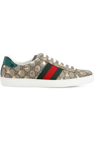 Gucci New Ace Gg Supreme Fabric Sneakers