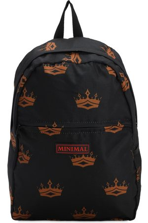 MINIMAL Men Rucksacks - All Over Print Backpack W/ Patches
