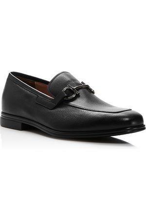 Salvatore Ferragamo Men's Scarlet Gancini Bit Leather Loafers