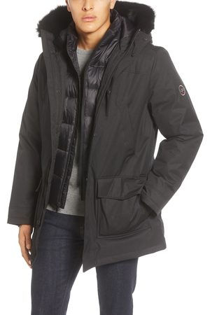UGG Men's Ugg Butte 3-In-1 Down Parka With Genuine Shearling Trim