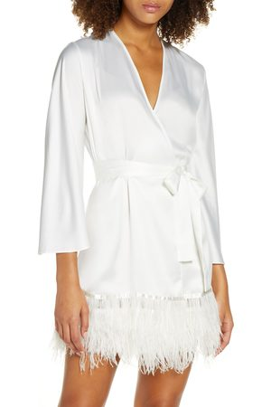 Rya Collection Women's Swan Charmeuse & Ostrich Feather Wrap