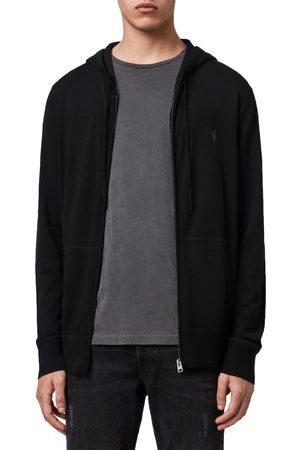 AllSaints Men's Mode Slim Fit Merino Wool Zip Hoodie