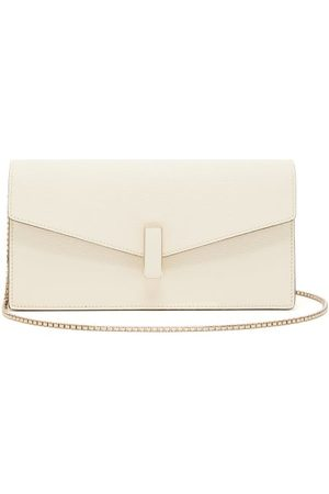 VALEXTRA Iside Grained Leather Clutch - Womens