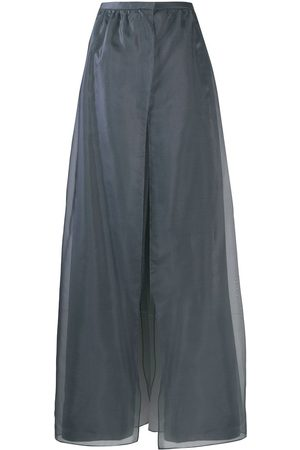 Armani Overlapping organza panels trousers - Grey