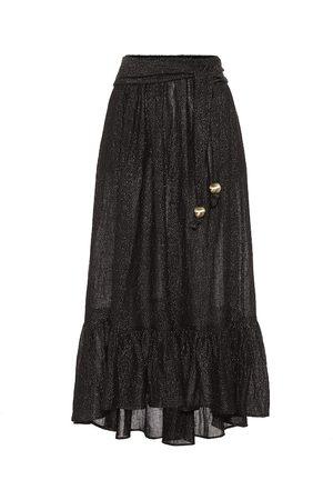 Lisa Marie Fernandez Linen-blend gauze midi skirt