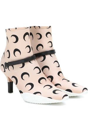 Marine Serre Printed stretch-jersey ankle boots