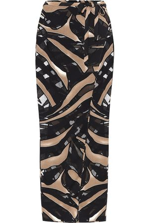Lisa Marie Fernandez Printed wrap skirt