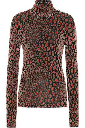 Caroline Constas Delphine leopard-print top
