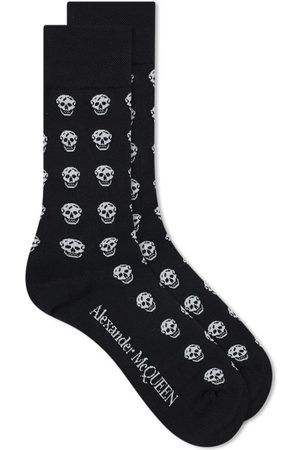 Alexander McQueen Men Sports Equipment - Skull Repeat Print Sport Sock