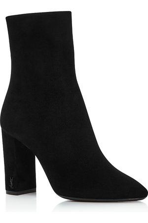 Saint Laurent Women's Lou 95 Block Heel Booties