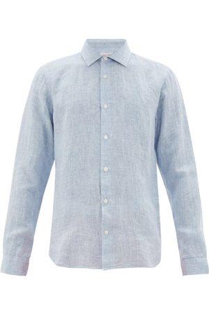 Orlebar Brown Men Shirts - Giles Linen Shirt - Mens