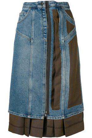 Maison Margiela Asymmetric contrast skirt