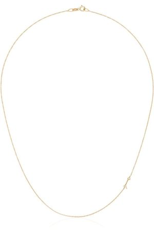 Lizzie Mandler 18kt mini arrow diamond necklace