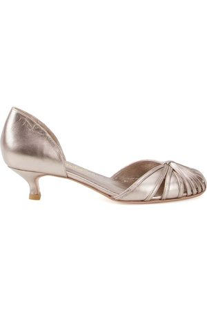 Sarah Chofakian Low-heel Sarah pumps - Metallic