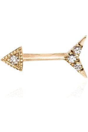 Lizzie Mandler Fine Jewelry 18kt diamond-embellished arrow stud earring