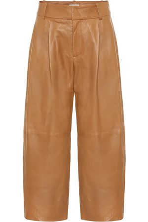 Vince Cropped wide-leg leather pants